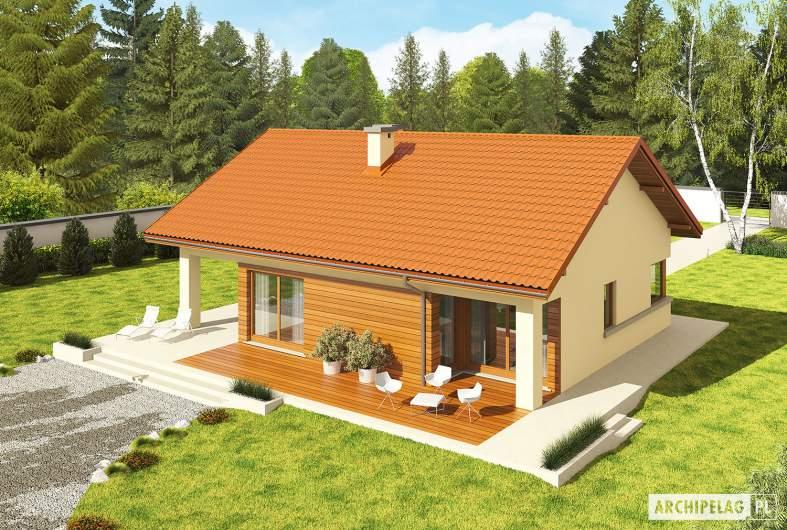 Projekt domu Tori III G1 ECONOMIC (wersja B) - Projekty domów ARCHIPELAG - Tori III G1 ECONOMIC (wersja B) - widok z góry
