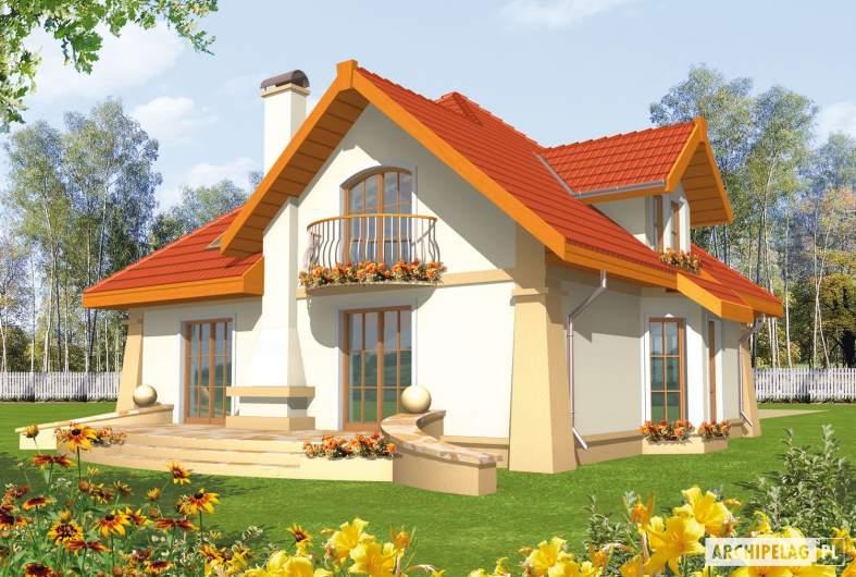 Projekt domu Atena G1 - wizualizacja ogrodowa