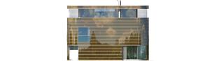 Projekt domu Mirror G2 - elewacja tylna