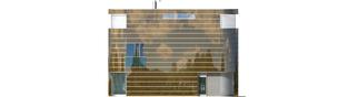 Projekt domu Mirror G2 - elewacja frontowa
