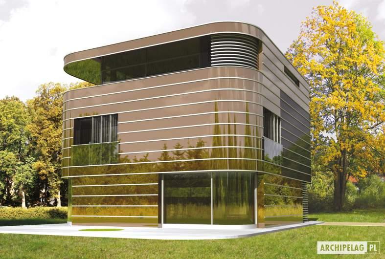 Projekt domu Mirror G2 - wizualizacja ogrodowa