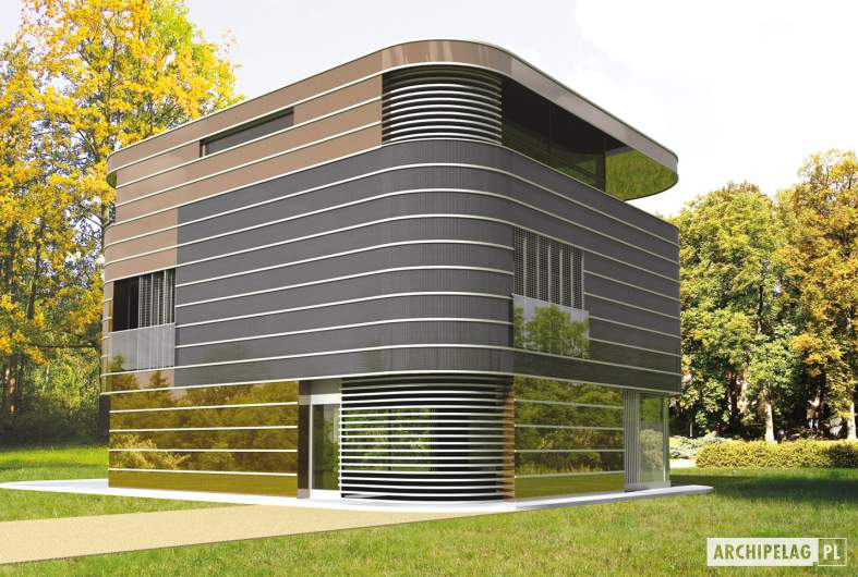 Projekt domu Mirror G2 - wizualizacja frontowa