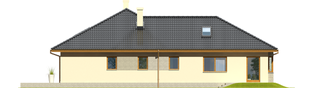Projekt domu Alan II G2 - elewacja lewa