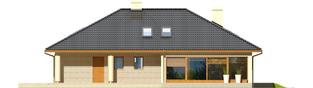 Projekt domu Alan II G2 - elewacja tylna