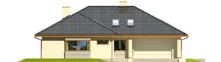 Projekt domu Alan II G2 - elewacja frontowa