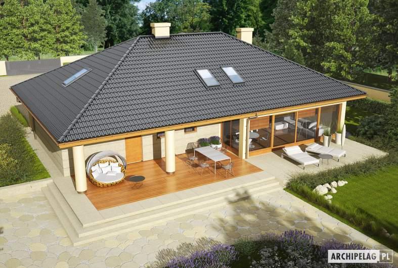 Projekt domu Alan II G2 - widok z góry