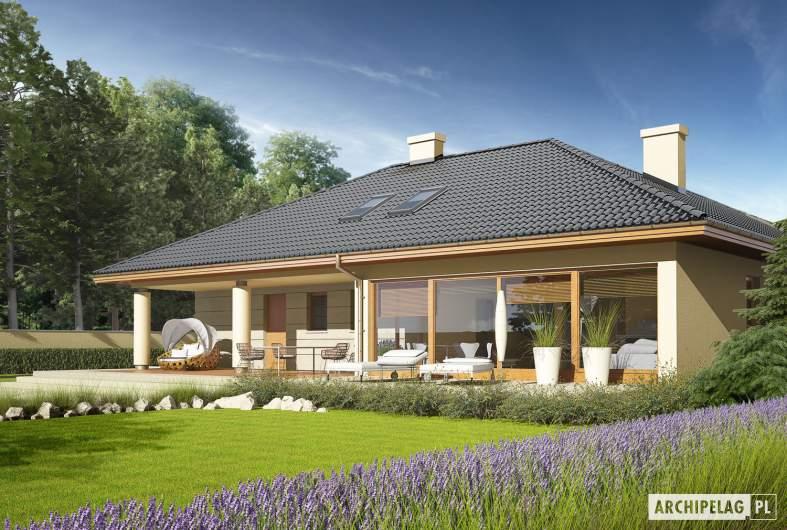 Projekt domu Alan II G2 - wizualizacja ogrodowa