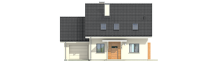 Projekt domu Morena II G1 - elewacja frontowa
