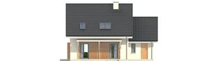 Projekt domu Morena II G1 - elewacja tylna