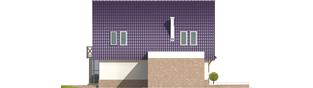 Projekt domu Tomek G1 - elewacja lewa
