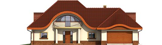 Inca G2 - Projekt domu Inka G2 - elewacja frontowa