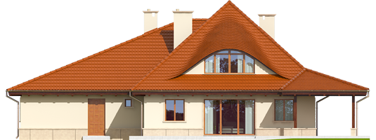 Petra II G2 - Projekty domów ARCHIPELAG - Petra II G2 - elewacja tylna
