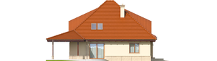 Projekt domu Petra II G2 - elewacja lewa