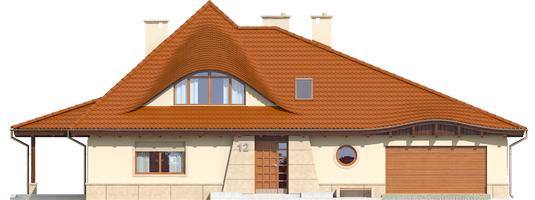 Petra II G2 - Projekty domów ARCHIPELAG - Petra II G2 - elewacja frontowa
