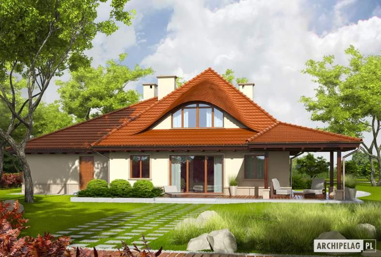 Projekt domu Petra II G2 - Projekty domów ARCHIPELAG - Petra II G2 - wizualizacja ogrodowa