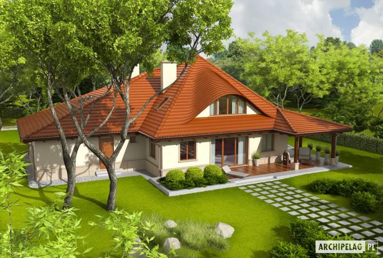 Projekt domu Petra II G2 - Projekty domów ARCHIPELAG - Petra II G2 - widok z góry