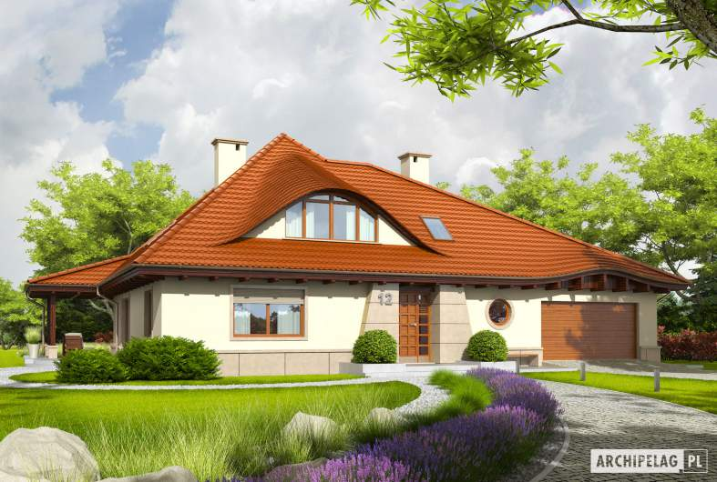 Projekt domu Petra II G2 - Projekty domów ARCHIPELAG - Petra II G2 - wizualizacja frontowa