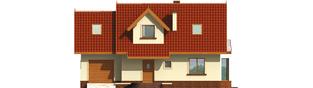 Projekt domu Megi G1 (z piwnicą) - elewacja frontowa