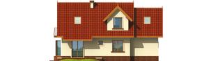 Projekt domu Megi G1 (z piwnicą) - elewacja tylna