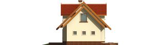 Projekt domu Megi G1 (z piwnicą) - elewacja lewa