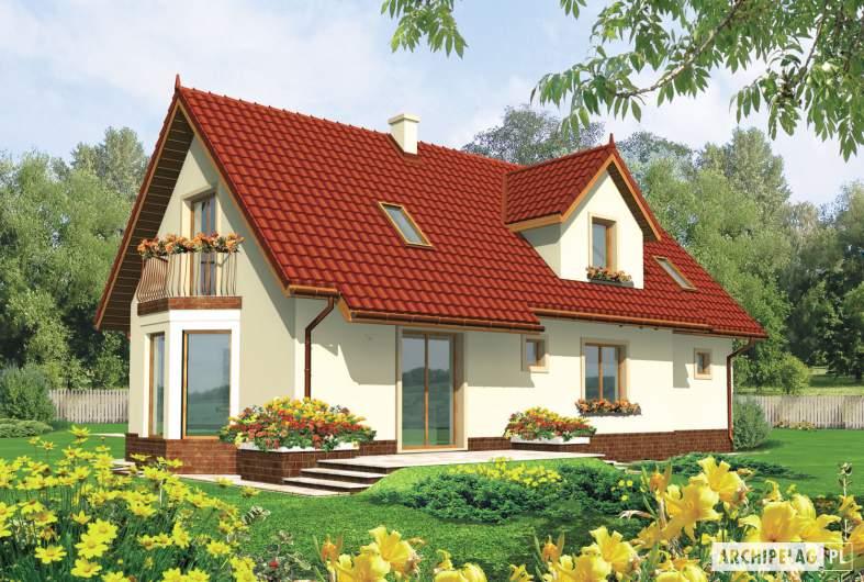 Projekt domu Megi G1 - wizualizacja ogrodowa