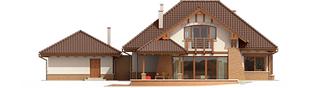 Projekt domu Edek G2 Mocca - elewacja tylna