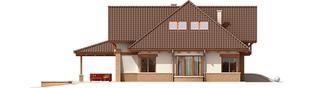 Projekt domu Edek G2 Mocca - elewacja lewa