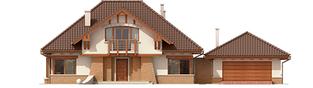 Projekt domu Edek G2 Mocca - elewacja frontowa