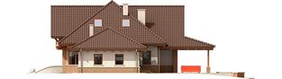 Projekt domu Edek G2 Mocca - elewacja prawa
