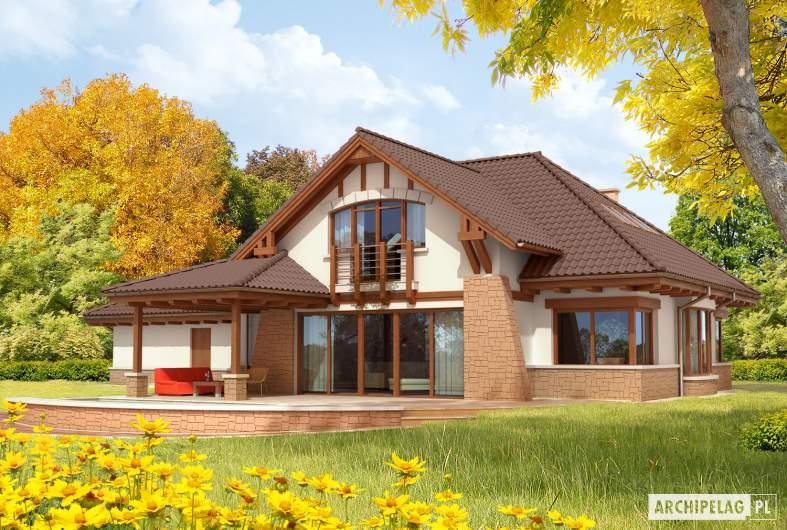 Projekt domu Edek G2 Mocca - wizualizacja ogrodowa