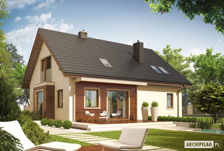 Projekt domu Arizona II G1 - wizualizacja ogrodowa