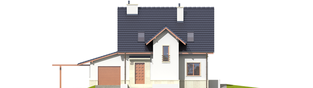 Projekt domu Sebastian G1 - elewacja frontowa