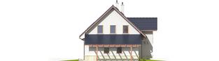 Projekt domu Sebastian G1 - elewacja lewa