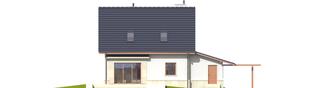 Projekt domu Sebastian G1 - elewacja tylna