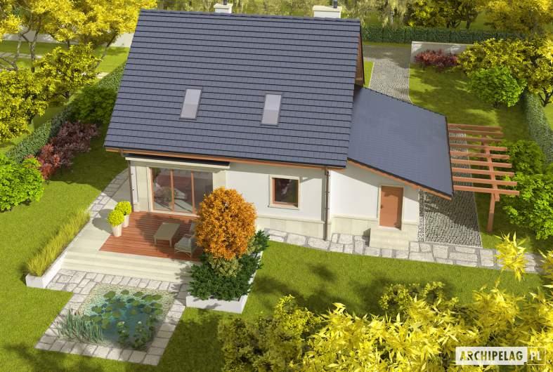 Projekt domu Sebastian G1 - widok z góry