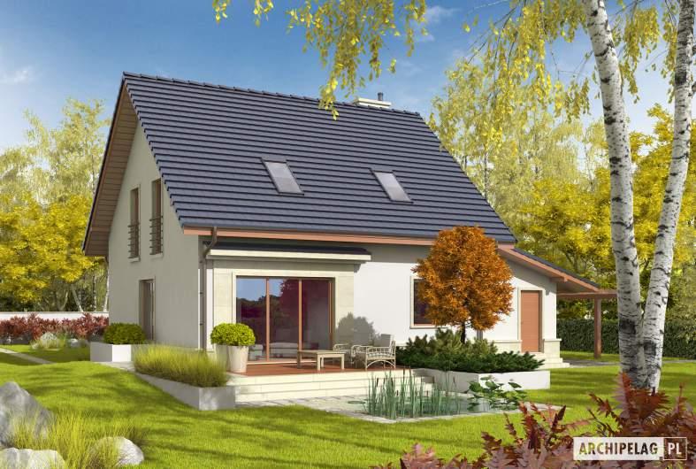 Projekt domu Sebastian G1 - wizualizacja ogrodowa