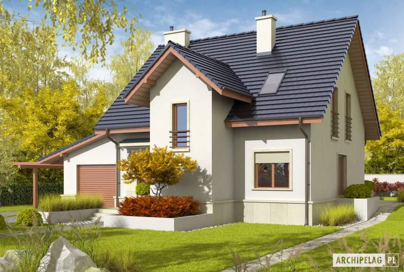 Projekt domu Sebastian G1 - wizualizacja frontowa prawa
