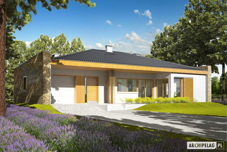 Projekt domu Marlon IV G1 - wizualizacja frontowa