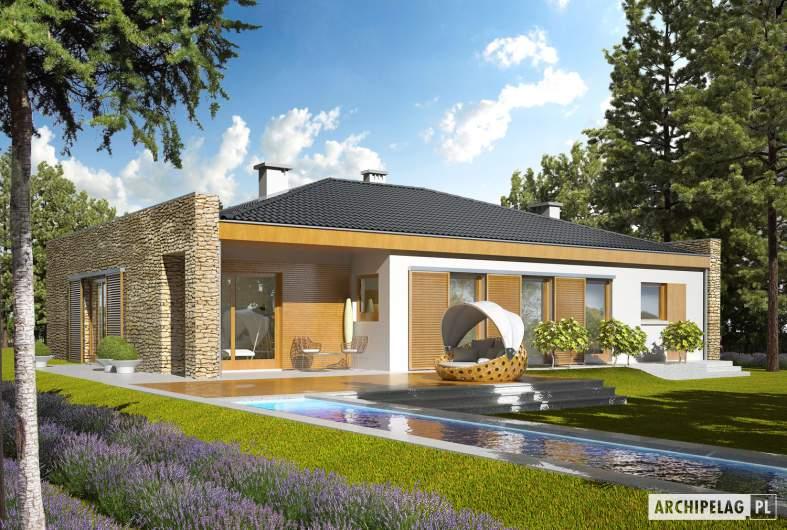 Projekt domu Marlon IV G1 - wizualizacja ogrodowa
