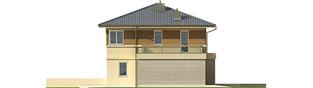 Projekt domu Fernando G1 (bliźniak) - elewacja lewa