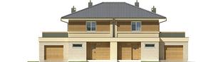 Projekt domu Fernando G1 (bliźniak) - elewacja frontowa