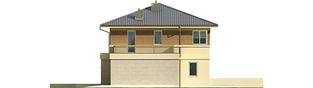 Projekt domu Fernando G1 (bliźniak) - elewacja prawa