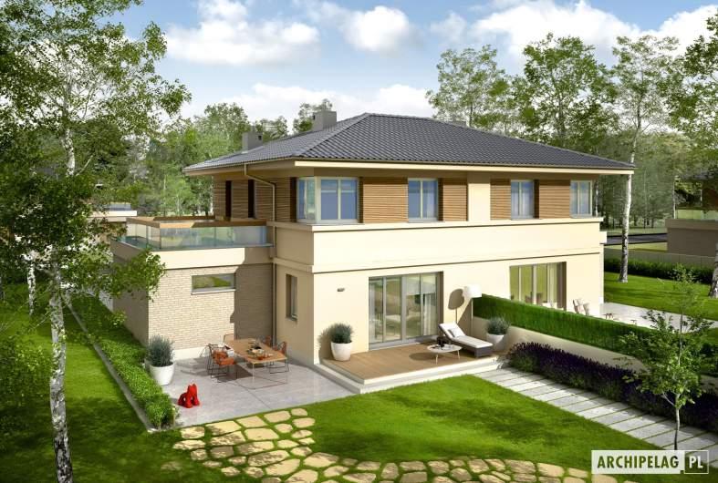 Projekt domu Fernando G1 (bliźniak) - widok z góry