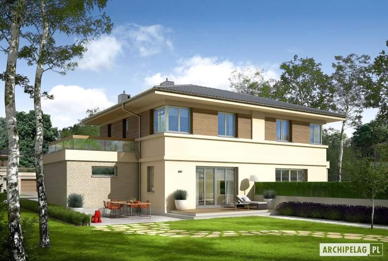 Projekt domu Fernando G1 (bliźniak) - wizualizacja ogrodowa