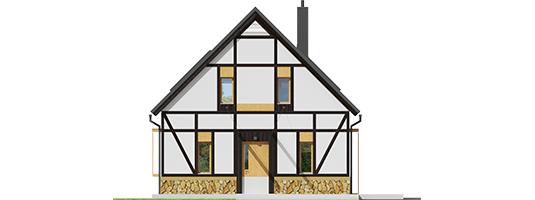 Экси 15 - Projekt domu EX 15 soft - elewacja frontowa