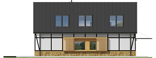 Экси 15 - Projekt domu EX 15 soft - elewacja lewa
