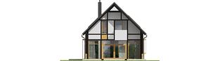 Projekt domu EX 15 soft - elewacja tylna