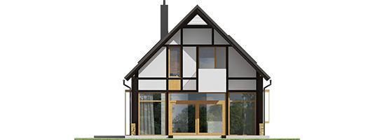 Экси 15 - Projekt domu EX 15 soft - elewacja tylna