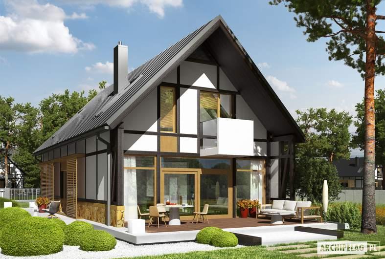 Projekt domu EX 15 soft - wizualizacja ogrodowa