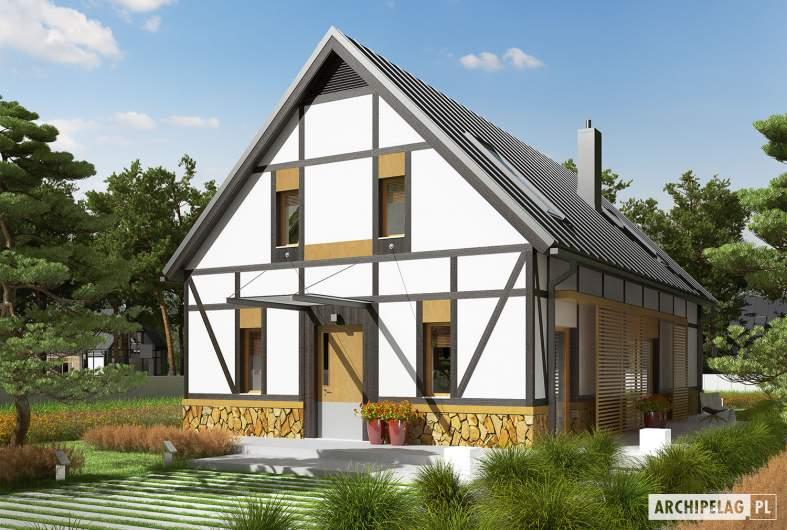 Projekt domu EX 15 soft - wizualizacja frontowa